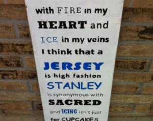 Ice Hockey Wall Art Hockey Fan Sign Jersey Stanley Icing ...