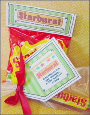 Employee Appreciation Sayings With Candy Starburst Candy Sayings