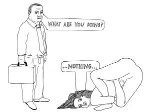 yoga humor... Why I don't let my husband near me when I'm doing yoga!