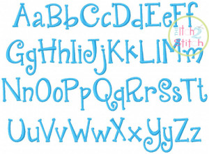 quirky girl embroidery font quirkygirl item id 445 your price