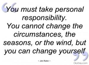 take personal responsibility