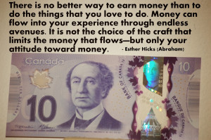 ... money that flows but only your attitude toward money esther hicks