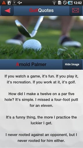 View bigger - Golf Quotes Top 10 for Android screenshot