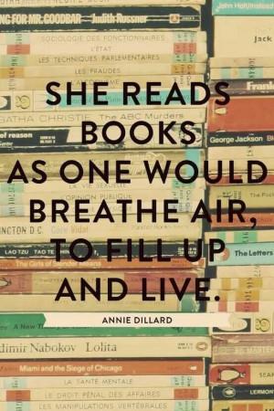 Annie Dillard quote....