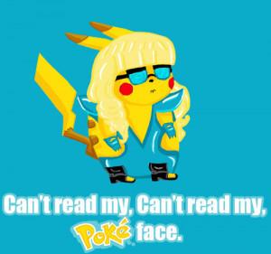 funny, lady gaga, lol, pikachu, pokemon, pokerface