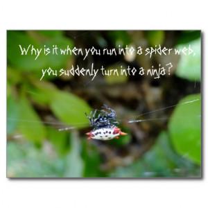 crab_spider_postcard_funny_ninja_quote ...