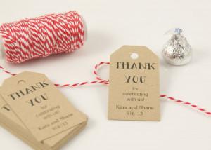 ... Tags - Wedding Favor Tag - Bridal Shower Favor Tag - Gift Tag, Thank