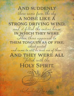 pentecost poem - the loveliest hour