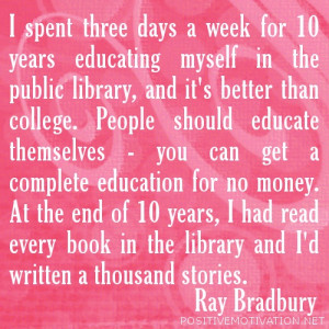 ... of the day July 14 , 2012 : Motivational Reading Quotes for Students