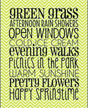GREEN GRASS AFTERNOON RAIN SHOWERS ~ OPEN WINDOWS ~ COLD ICE CREAM ...