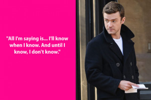 Oh really, Justin Timberlake ? Do tell more. Actually, don't ...