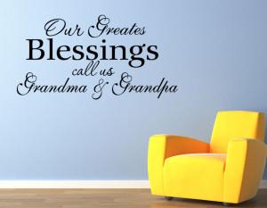 Custom-Grandchildren-Blessings-Vinyl-Wall-quote-Decal-home-Decor-Wall ...