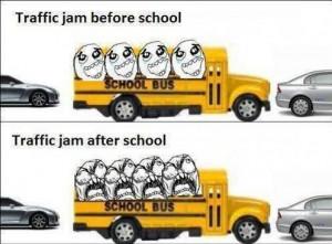 Traffic jam is not always unwelcome…