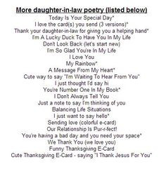 Quotes+About+Daughters+In+Law | Mothers Day Poems From Daughter In Law ...