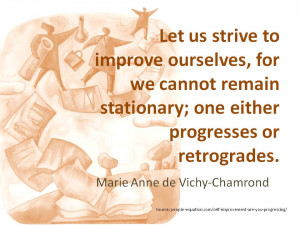 self improvement and progressing quote