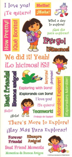 Details about Sandylion Large Sticker - DORA THE EXPLORER Quotes