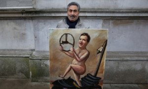 ... George Osborne near Downing Street on December 5, 2012 in London