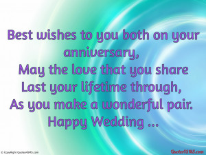 Best wishes to you both on your anniversary...