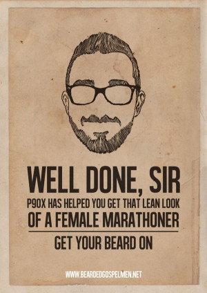 Beard Man is a Real Man | Quotes Posters