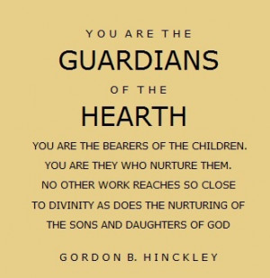 Loooove this quote from Gordon B. Hinckley