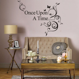 ... Black Ana Saying Once Upon A Time Quotes Decals Vinyl Room Decor
