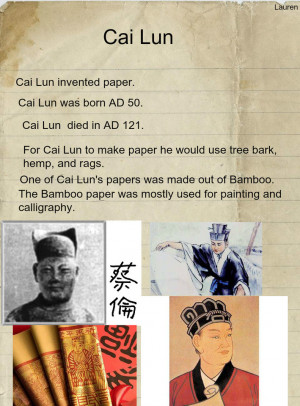 Cai Lun's invention