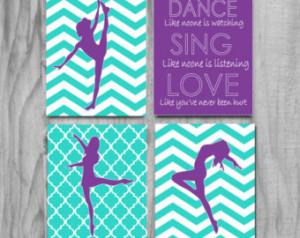 Dance Gift- Art Cute Wall children s inspirational quote teen girl ...