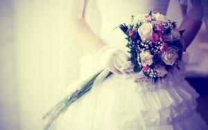 Women - Bride Wedding Dress Wedding Flower Fashion Style Wallpaper
