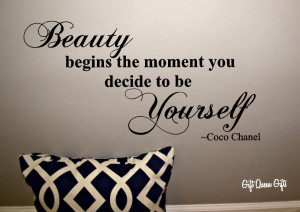 Quotes For Teenage Girls About Being Yourself Coco chanel quote wall ...