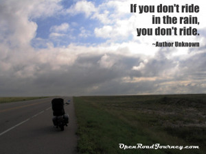 Motorcycle quotes we love, motorcycle on road, rain, beautiful clouds