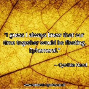 guess-i-always-knew-that-our-time-together-would-be-fleeting ...