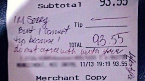 ... copy of the receipt showing no tip. Screenshot from NBC Philadelphia