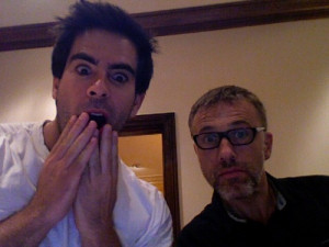 44 notes Permalink Posted at 12:03 AM Tagged: eli roth christoph waltz