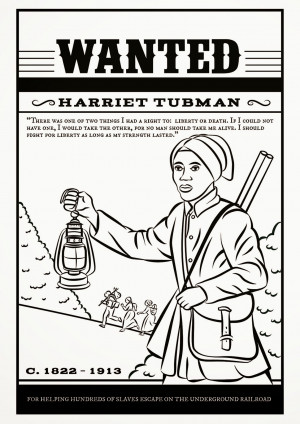 Harriet Tubman - Free Colouring Page, Links & Resources