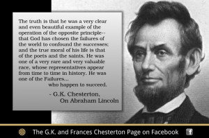 Chesterton quote on Abraham Lincoln