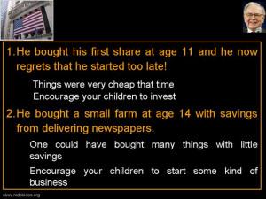 Warren Buffett Financial Literacy Quote of the Day