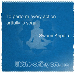 little inspiration for your yoga practice