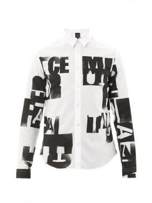 Lee McQueen quote-print shirt   McQ Alexander McQueen   MATCHE...