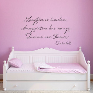 ... www.etsy.com/listing/150725424/tinkerbell-wall-decal-tinkerbell-quote