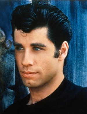 "... John Travolta whore on the movie ""Grease"", at a time when he had a"