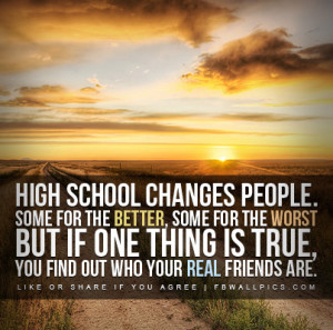 High School Changes People Quote Picture
