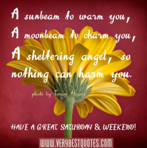 Saturday Morning quotes and blessings