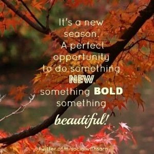 Goodbye Summer. Hello Fall! Who's glad to see the changing leaves and ...