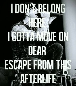 Avenged Sevenfold Afterlife lyrics quote