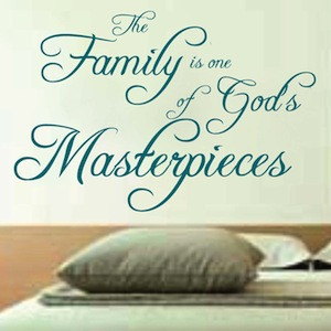 vinyl quote vinyl family quotes from the bible quote decal