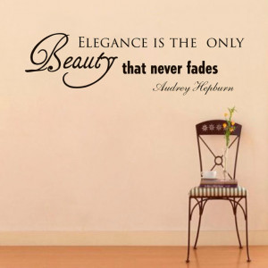 Wall Decals Audrey Hepburn Quote Decal Elegance is the Only Beauty ...