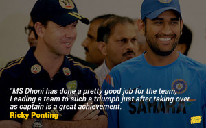 31. Yet another Aussie skipper talks of Dhoni's greatness.