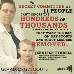 Jennifer Tyrrell , Boy Scouts , BSA , Zach Wahls , Scouts for Equality