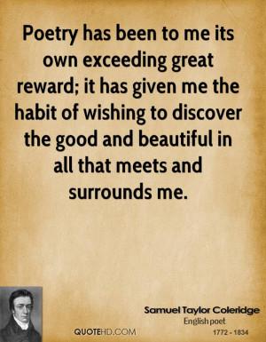 Samuel Taylor Coleridge Poetry Quotes