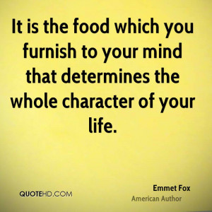 Emmet Fox Food Quotes